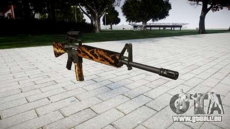 Die M16A2 Gewehr [optisch] tiger für GTA 4