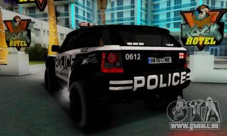 Bowler EXR S 2012 v1.0 Police pour GTA San Andreas vue de droite