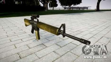 Le M16A2 fusil [optique] d'olive pour GTA 4