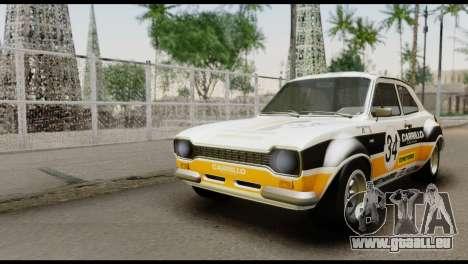 Ford Escort Mark 1 1970 pour GTA San Andreas vue intérieure