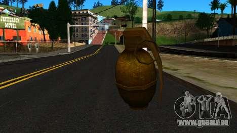 Grenade from GTA 4 für GTA San Andreas zweiten Screenshot