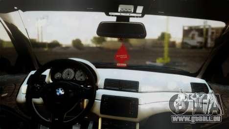 BMW M3 E46 MILKA pour GTA San Andreas sur la vue arrière gauche