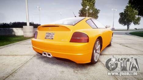 GTA V Schyster Fusilade Tuning pour GTA 4 Vue arrière de la gauche
