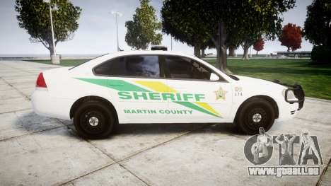 Chevrolet Impala Martin County Sheriff [ELS] pour GTA 4 est une gauche