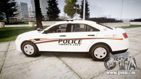 Ford Taurus 2014 Police Interceptor [ELS] für GTA 4 linke Ansicht