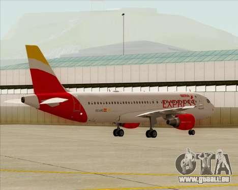 Airbus A320-200 Iberia Express für GTA San Andreas Innenansicht