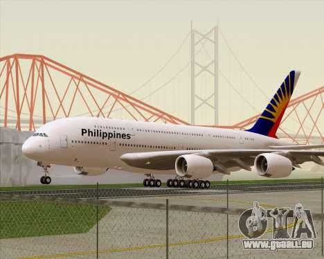 Airbus A380-800 Philippine Airlines pour GTA San Andreas laissé vue