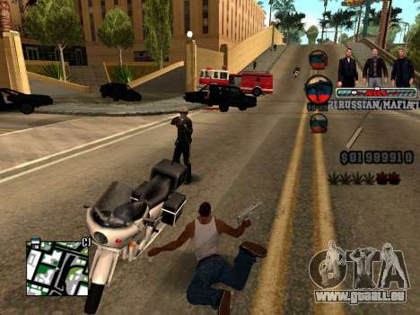 C-HUD Russian Mafia für GTA San Andreas her Screenshot
