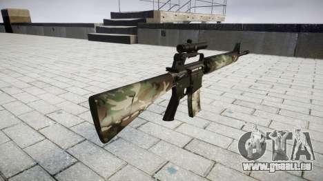 Le M16A2 fusil [optique] woodland pour GTA 4 secondes d'écran