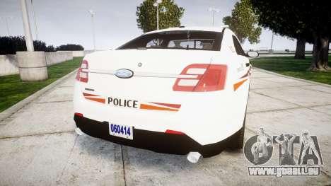 Ford Taurus 2014 Police Interceptor [ELS] für GTA 4 hinten links Ansicht