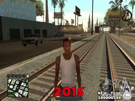 CLEO HUD New Year 2015 für GTA San Andreas