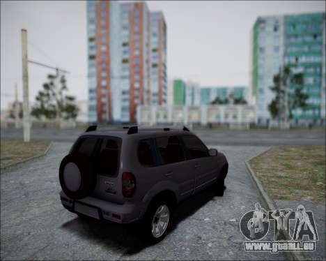 Chevrolet Niva pour GTA San Andreas sur la vue arrière gauche