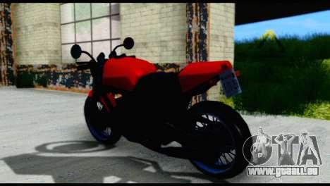 Streetfighter from Vice City Stories pour GTA San Andreas sur la vue arrière gauche
