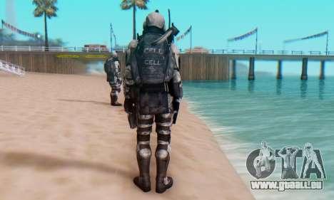 C.E.L.L. Soldier (Crysis 2) pour GTA San Andreas sixième écran