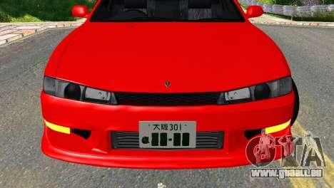 Nissan Silvia S14 Ks pour GTA San Andreas vue arrière