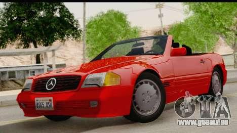 Mercedes-Benz 500SL R129 1992 pour GTA San Andreas sur la vue arrière gauche