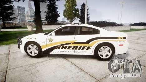 Dodge Charger 2013 Sheriff [ELS] v3.2 für GTA 4 linke Ansicht