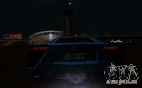 Lexus LF-A 2010 pour GTA San Andreas vue de côté
