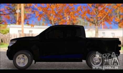 Chevrolet S10 LS 2014 pour GTA San Andreas laissé vue