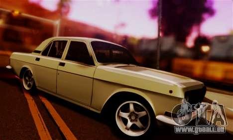GAZ 24 Volga für GTA San Andreas Rückansicht