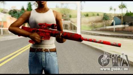Sniper Rifle with Blood pour GTA San Andreas troisième écran