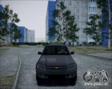 Chevrolet Niva pour GTA San Andreas laissé vue
