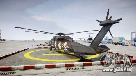 Sikorsky MH-X Silent Hawk [EPM] Printemps pour GTA 4 Vue arrière de la gauche