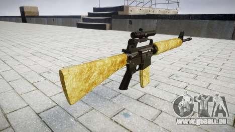 Die M16A2 Gewehr [optisch] gold für GTA 4 Sekunden Bildschirm