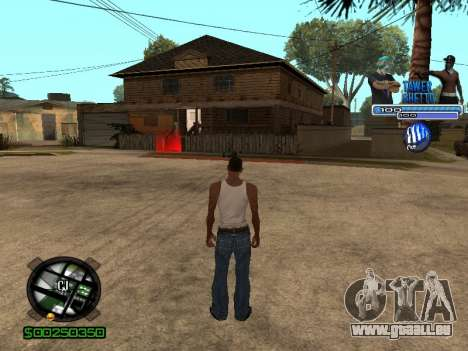 С-Hud Tawer-Ghetto v1.6-Classic für GTA San Andreas her Screenshot
