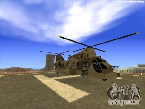 GTA 5 Cargobob für GTA San Andreas linke Ansicht