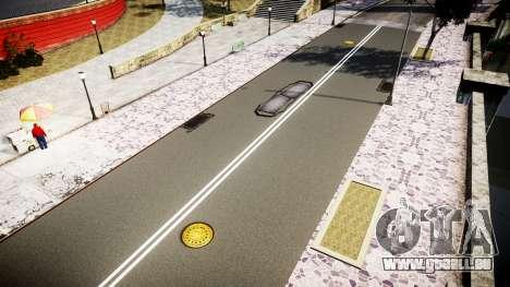 La Texture des routes en haute définition 2014 v pour GTA 4 cinquième écran