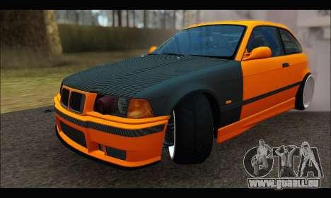 BMW e36 Drift für GTA San Andreas Rückansicht