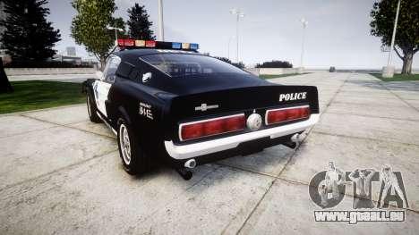 Ford Shelby GT500 Eleanor Police [ELS] pour GTA 4 Vue arrière de la gauche