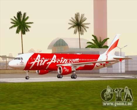 Airbus A320-200 Air Asia Japan für GTA San Andreas Innenansicht