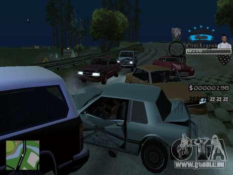 C-HUD Old Legend pour GTA San Andreas cinquième écran