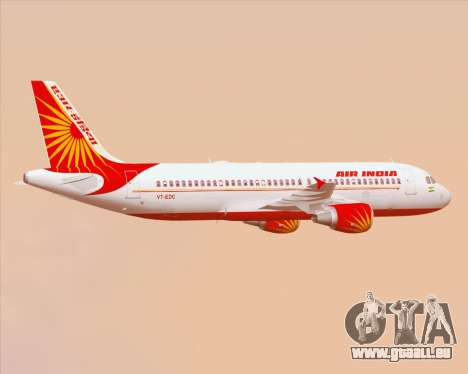 Airbus A320-200 Air India pour GTA San Andreas roue