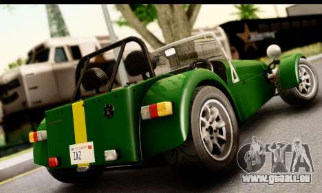 Caterham Seven 1995 pour GTA San Andreas laissé vue
