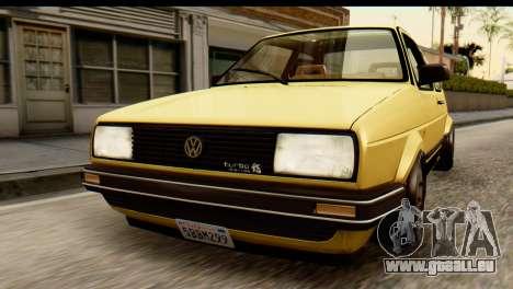 Volkswagen Jetta A2 Coupe pour GTA San Andreas vue arrière