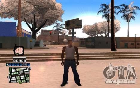 C-HUD Bench pour GTA San Andreas