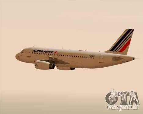 Airbus A319-100 Air France für GTA San Andreas Motor