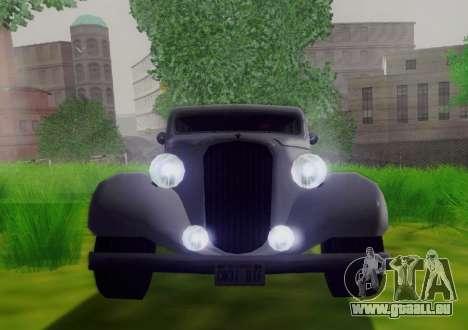 Hustler Limousine pour GTA San Andreas vue arrière