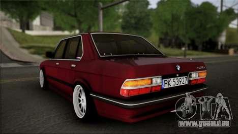 BMW M5 E28 pour GTA San Andreas laissé vue