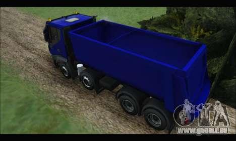 Iveco Trakker 2014 Tipper pour GTA San Andreas vue arrière