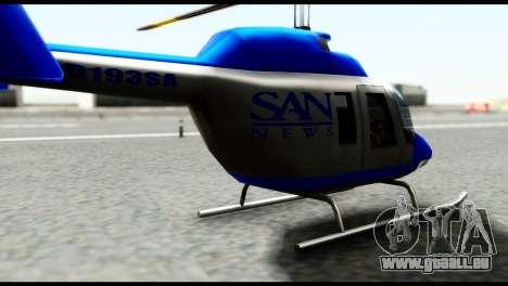 Beta News Maverick pour GTA San Andreas sur la vue arrière gauche