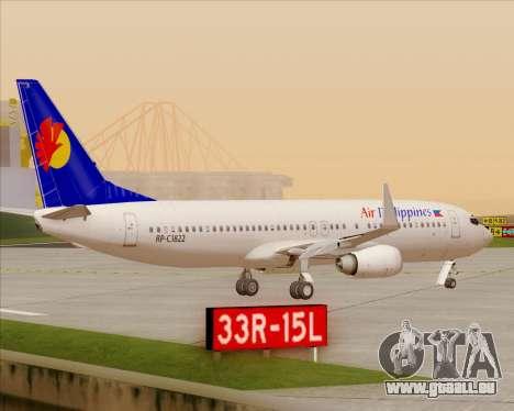 Boeing 737-800 Air Philippines für GTA San Andreas Unteransicht