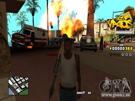 C-HUD Los Santos Vagos Gang für GTA San Andreas sechsten Screenshot