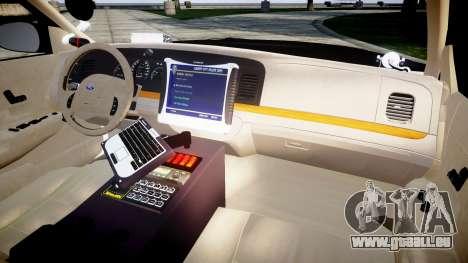 Ford Crown Victoria Ontario Police [ELS] pour GTA 4 Vue arrière
