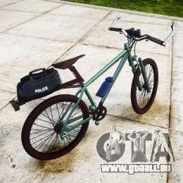 Polizei Mountainbike [ELS] für GTA 4 linke Ansicht