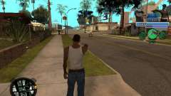 С-Hud Tawer-Ghetto v1.6 Classique pour GTA San Andreas