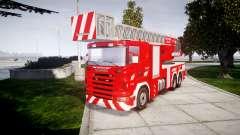 Scania R580 Belgian Fireladder [ELS]